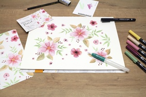 illustration Les Sets d'aquarelle de Tombow récompensés